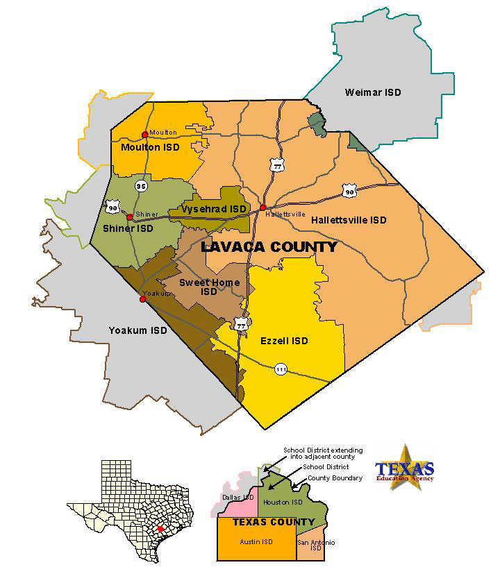 Counties Map Of Texas.Lavaca County Texas Maps