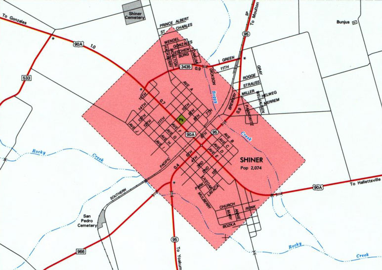 lavaca county texas maps